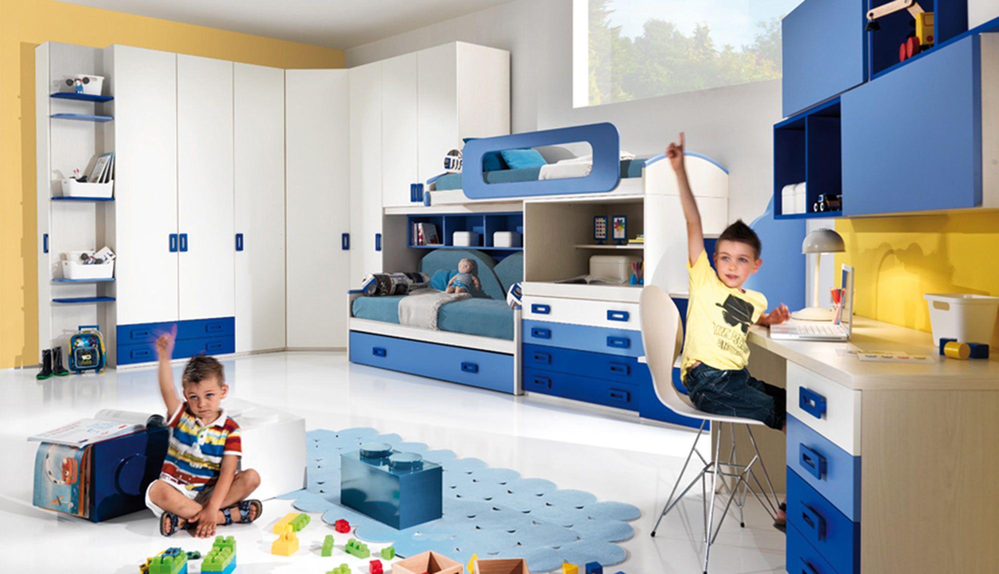 Blu&Yellow plays in the CM06 small bedroom! www.giessegi.it/it ...