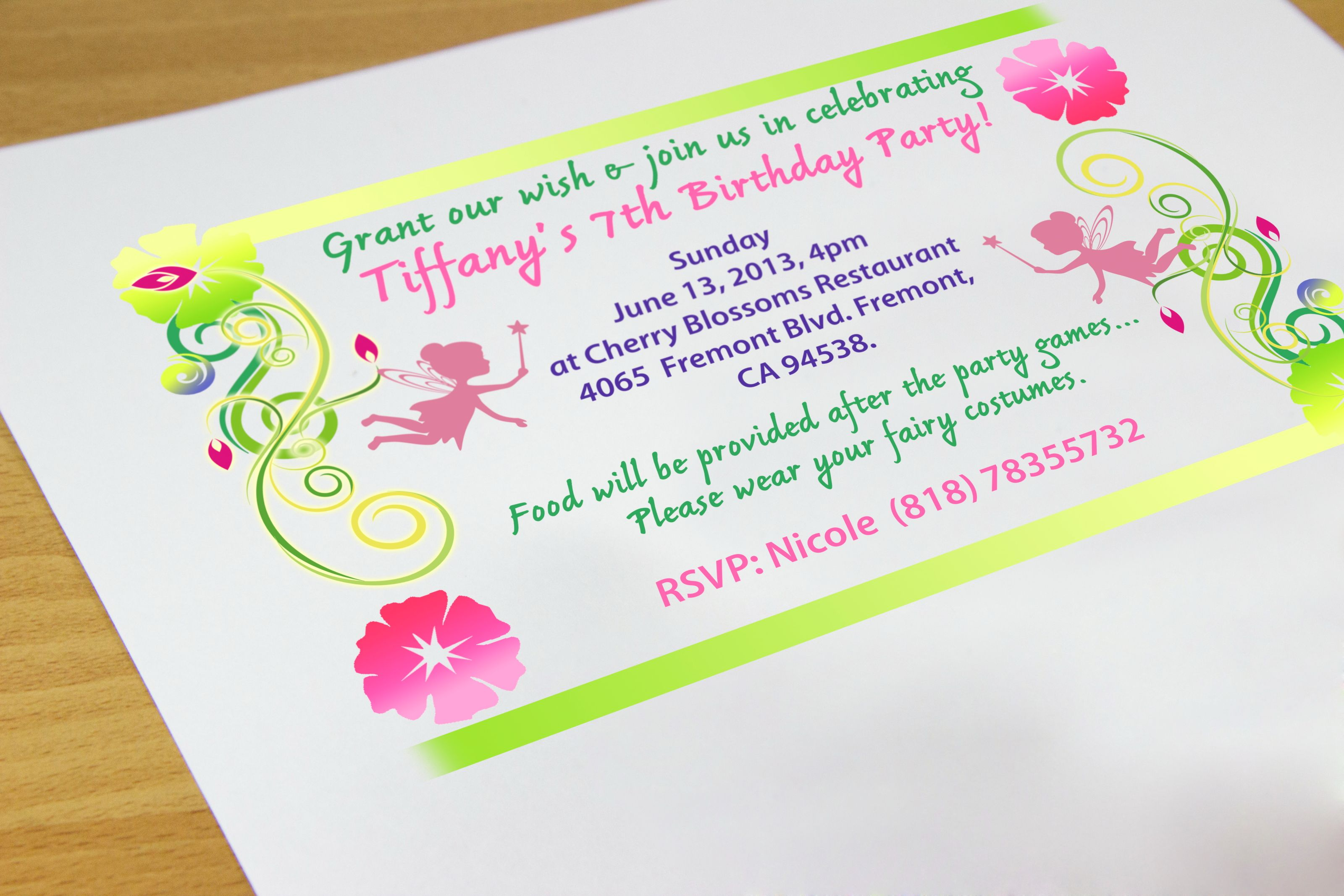Pin By Anggunstore On Invitstiond By Own Make Birthday