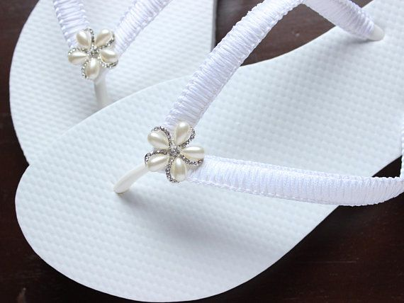 9f65ec47a Custom Bride Flip Flops