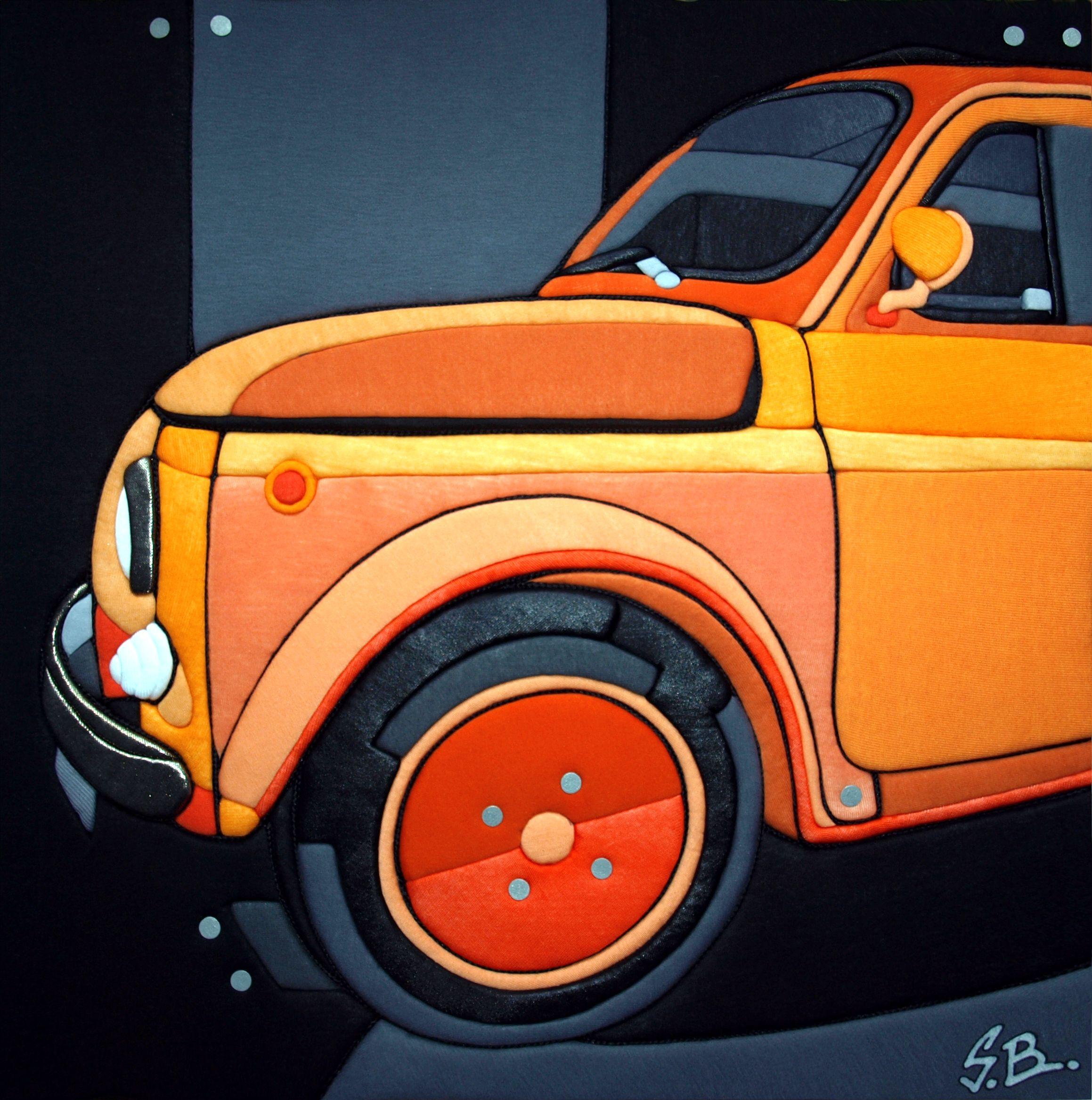 """Sculture Vestite di Stefano Bressani """"Fiat 500 Yuppi Du"""" 50x50x4 cm - 2012 Opera n° 183 All right reserved © (Private Collection)"""