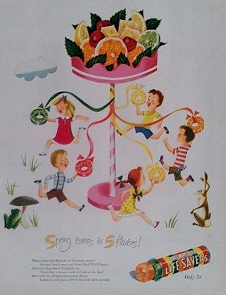 1947 Lifesavers Candy Ad  Vintage Advertisment 1940s by Inkart, $3.00