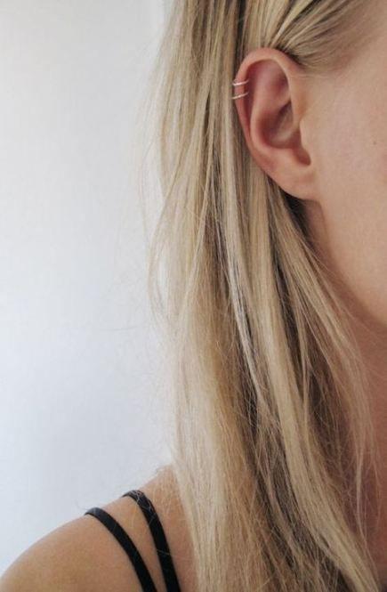 Piercing Ear Helix Double Simple 36+ Ideas For 2019 #earpiercingideas