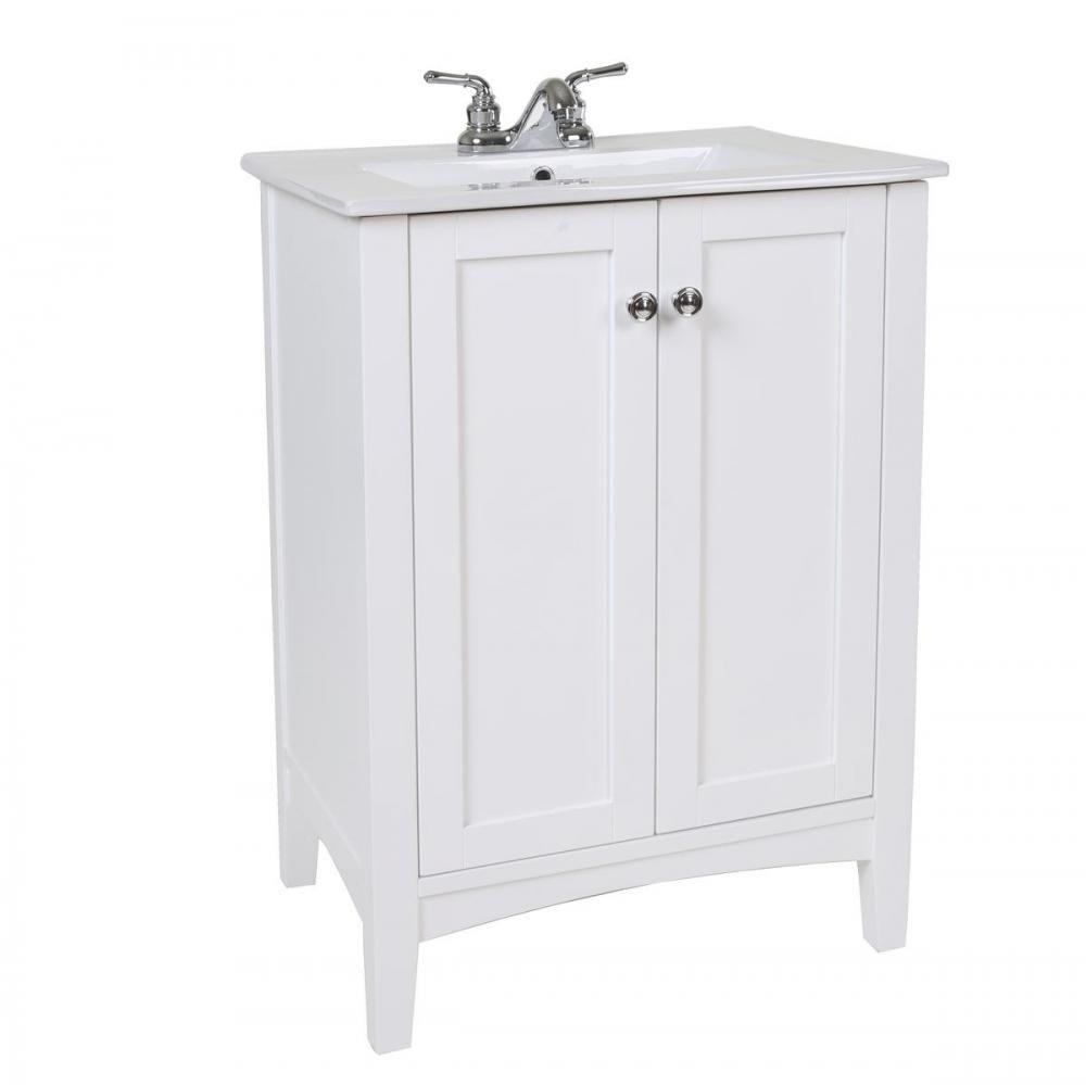 Elegant Bathroom Vanity Sink Cabinet: 24 In. Single Bathroom Vanity Set In