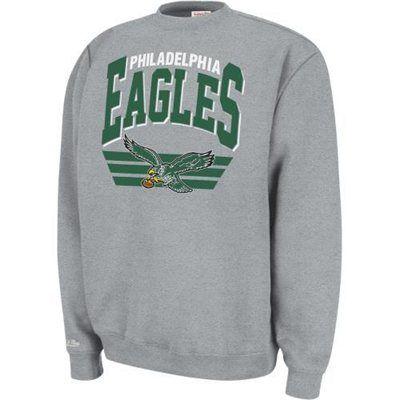a01dbe4d Men's Mitchell & Ness Philadelphia Eagles Stadium Crew Sweatshirt ...
