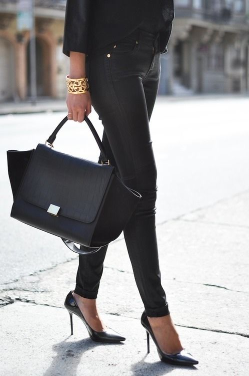 awesome bag and bracelet and I love the simplicity of the outfit too