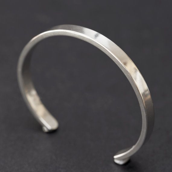 213c29a60 This sterling silver bangle/bracelet cuff is made from beautiful 2mm thick  material. This extra weight makes the cuff feel substantial and gives it  extra ...