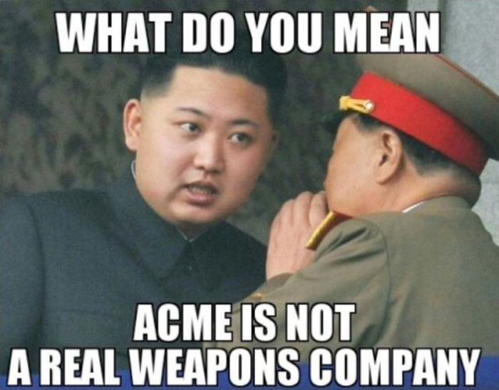 Funny Meme Mean : What do you mean acme is not a real weapons company