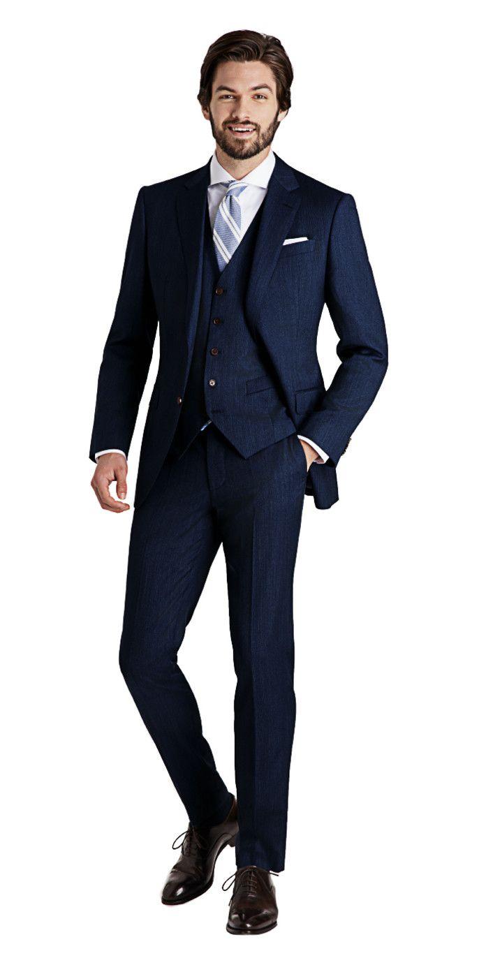 Rivington Dusk Blue 3,Piece Suit