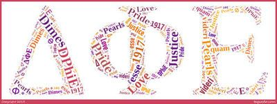 DPhiE letters with words