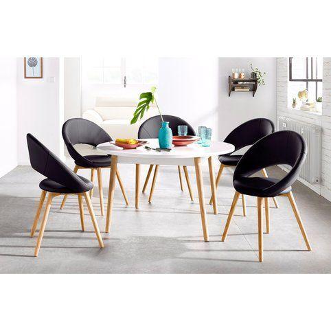 Lot De 6 Chaises Design Scandinave Imitation Cuir