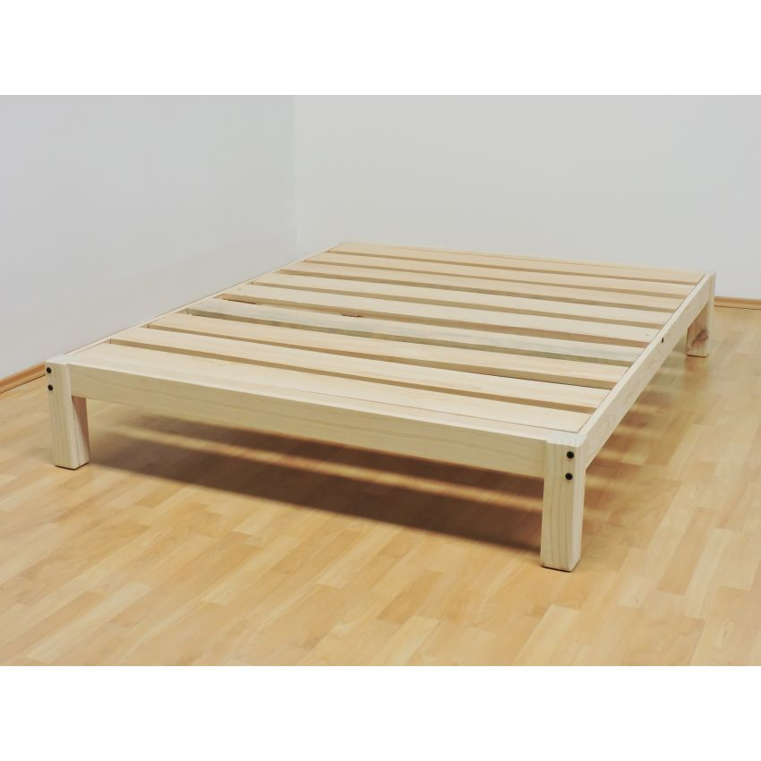 Compra base para cama queen size tradicional desarmable for Medidas de un colchon twin