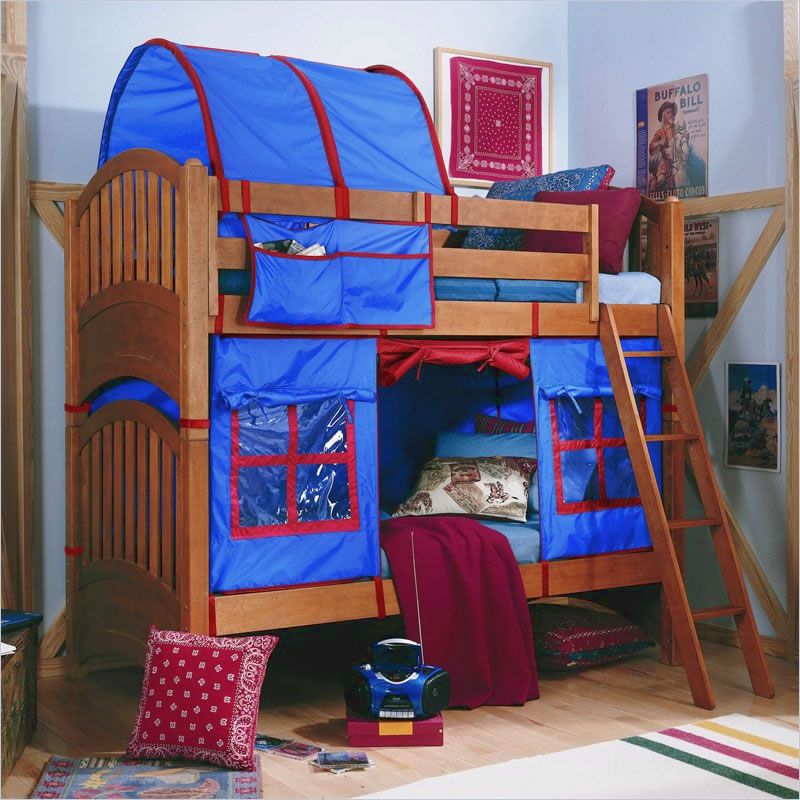 Lea My Place Twin Bunk Bed with Tent & Lea My Place Twin Bunk Bed with Tent | Fun for Kids | Pinterest ...