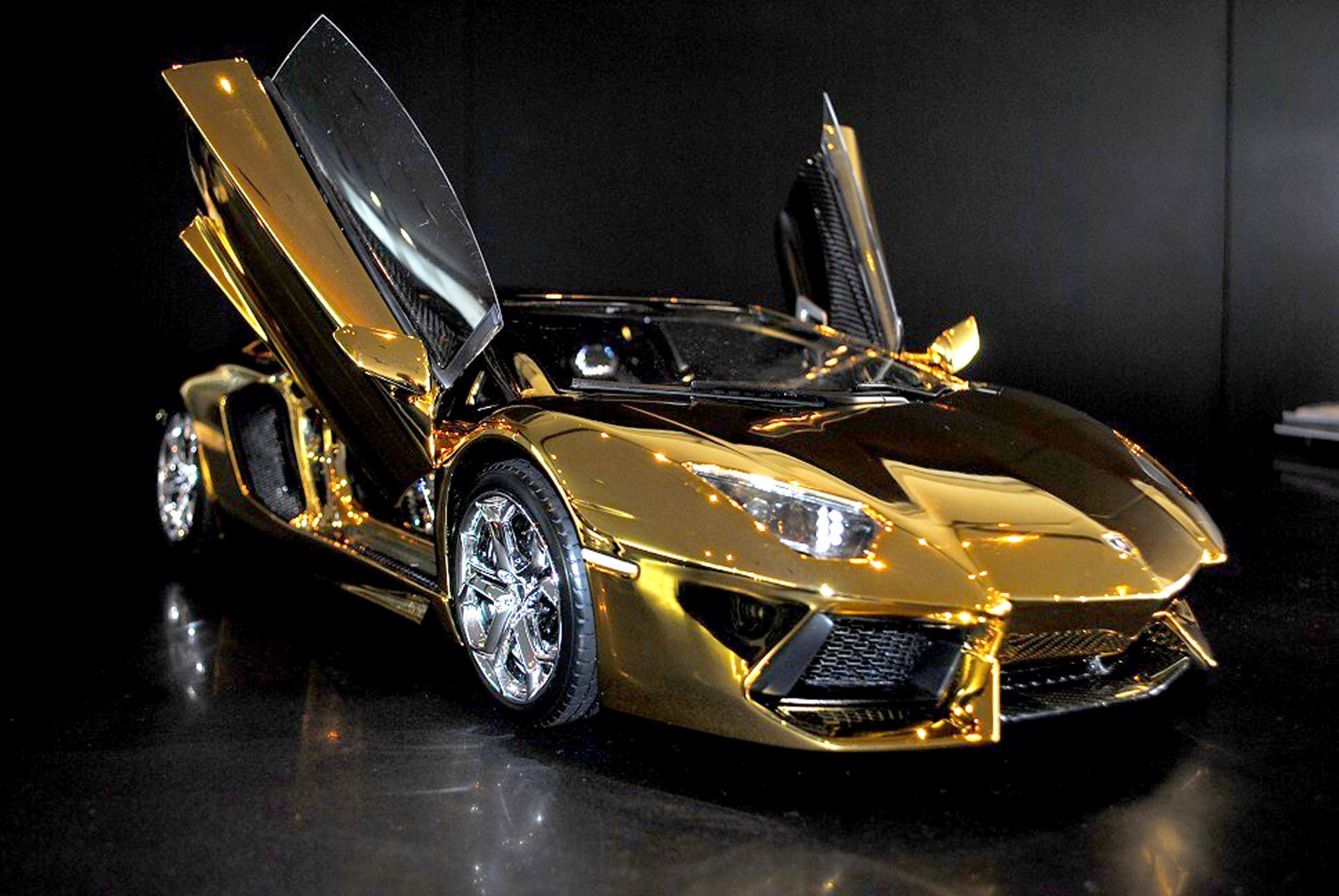 A solid gold and 6 other supercars New York