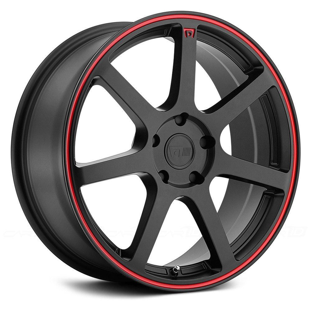 MOTEGI RACING® MR132 Matte Black with Red Pinstripe