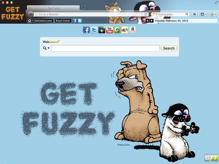 get fuzzy browser theme for google chrome mozilla firefox internet