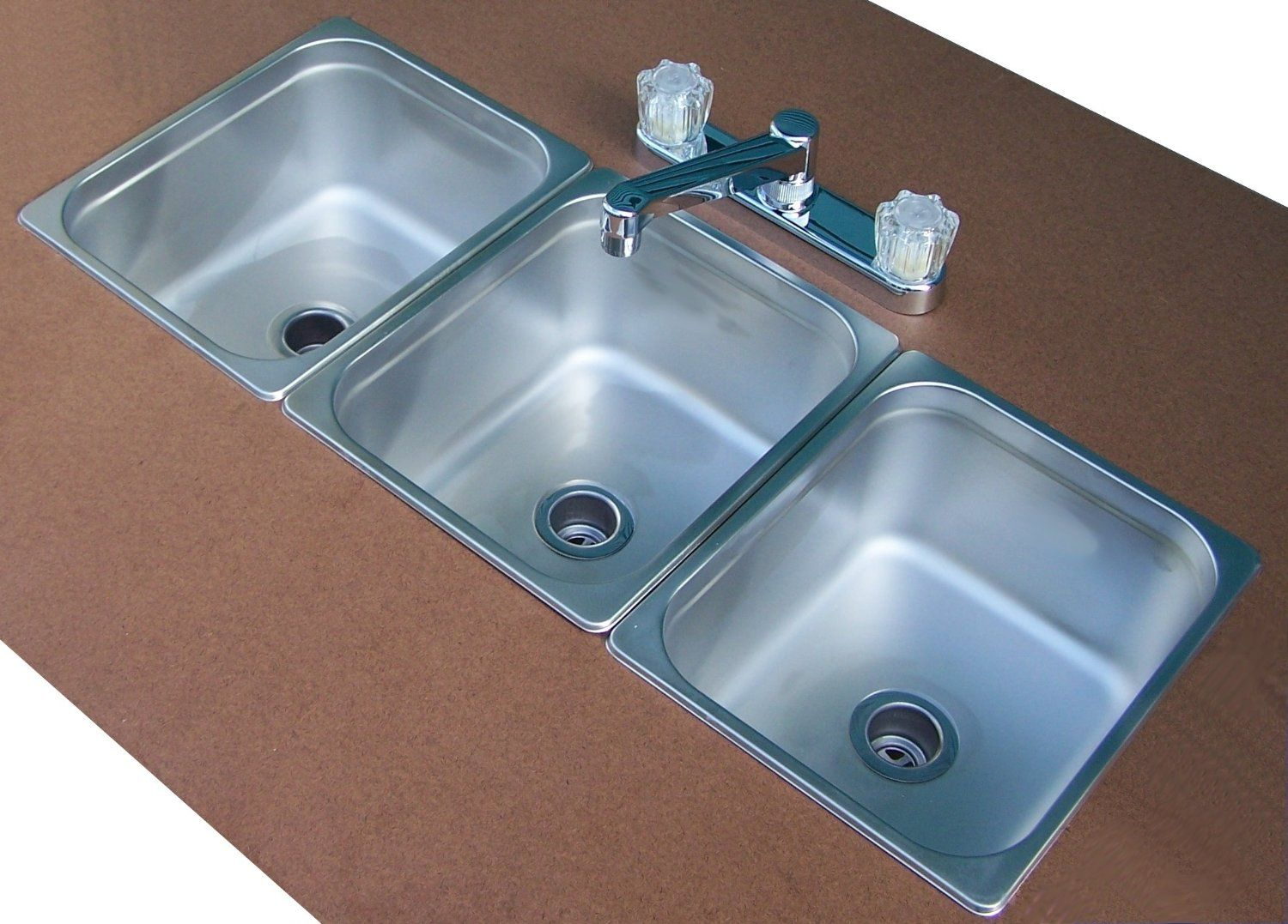triple basin kitchen sink If you love to cook...this is great ...