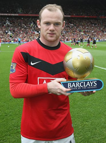 Barclays Player Of The Season 2009 10 Wayne Rooney Manchester United Manchester United Football Club Manchester United Players Manchester United Football