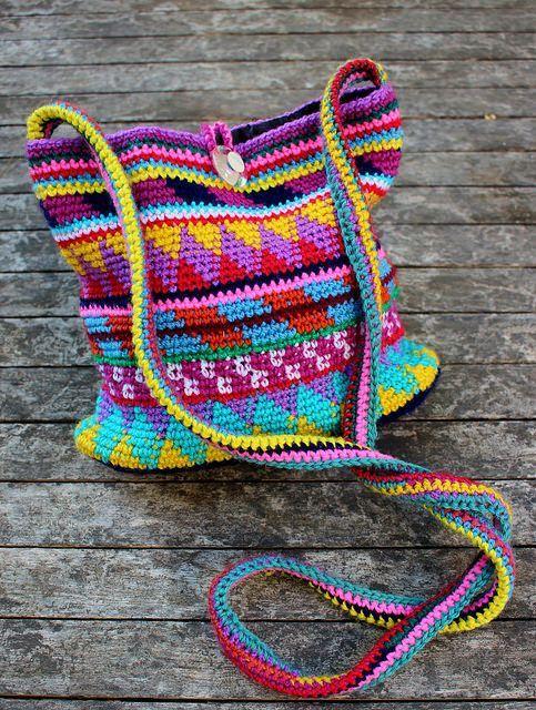 Maya Purse -free crochet pattern- (365 Crochet) | Bolsos, Mochilas y ...