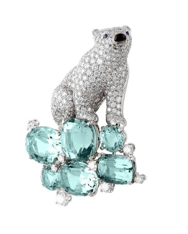 Van Cleef & Arpels diamond and aquamarine  save by Antonella B.Rossi