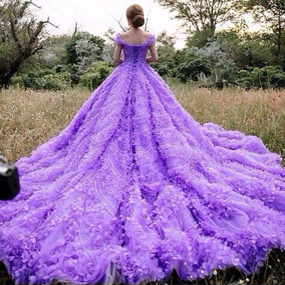 Cheap Wedding Dresses Real Gorgeous Purple Ball Gown Luxury Scoop