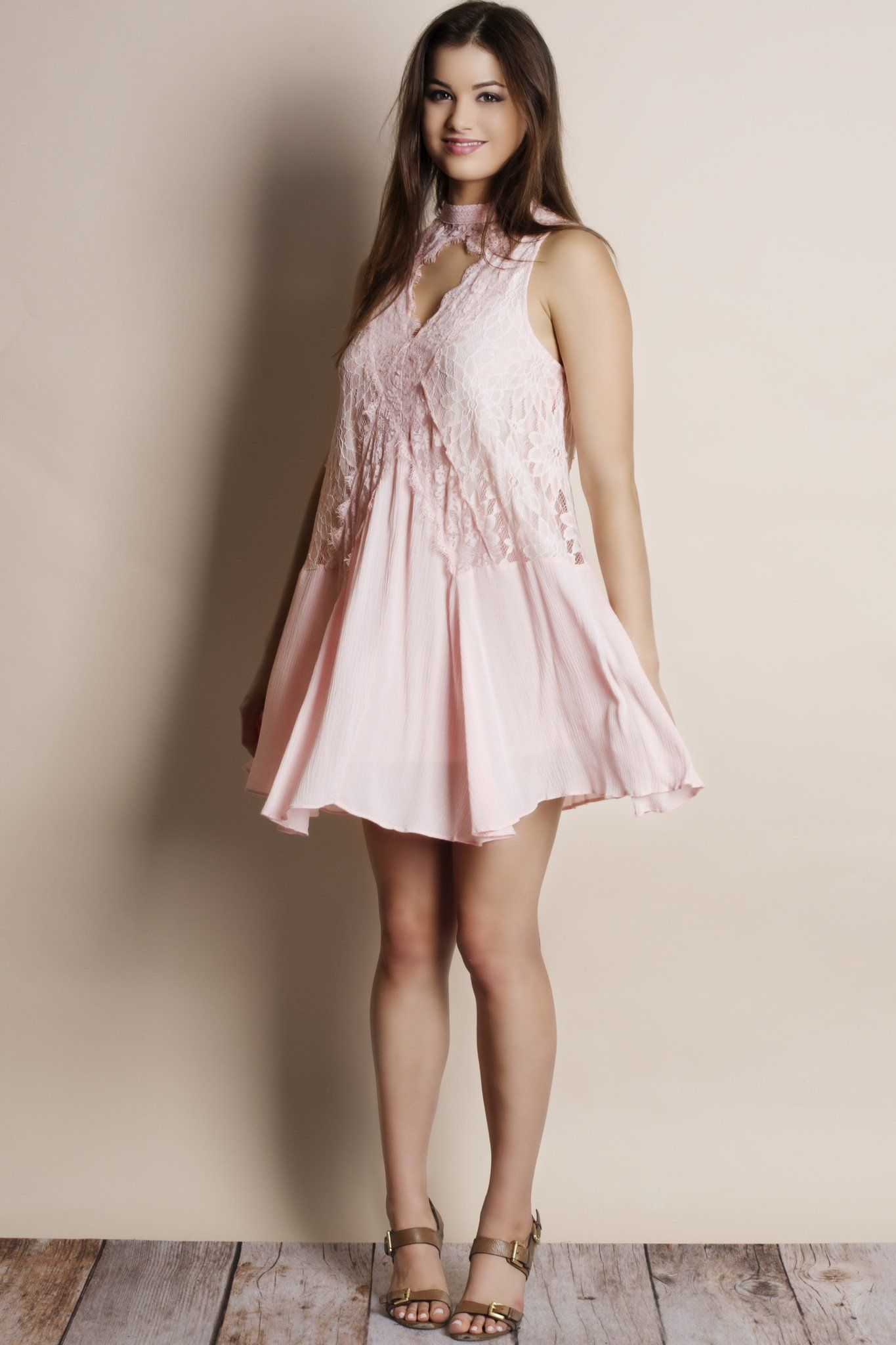 Pink cut out dress  Curfew Lace Cut Out Dress  Products