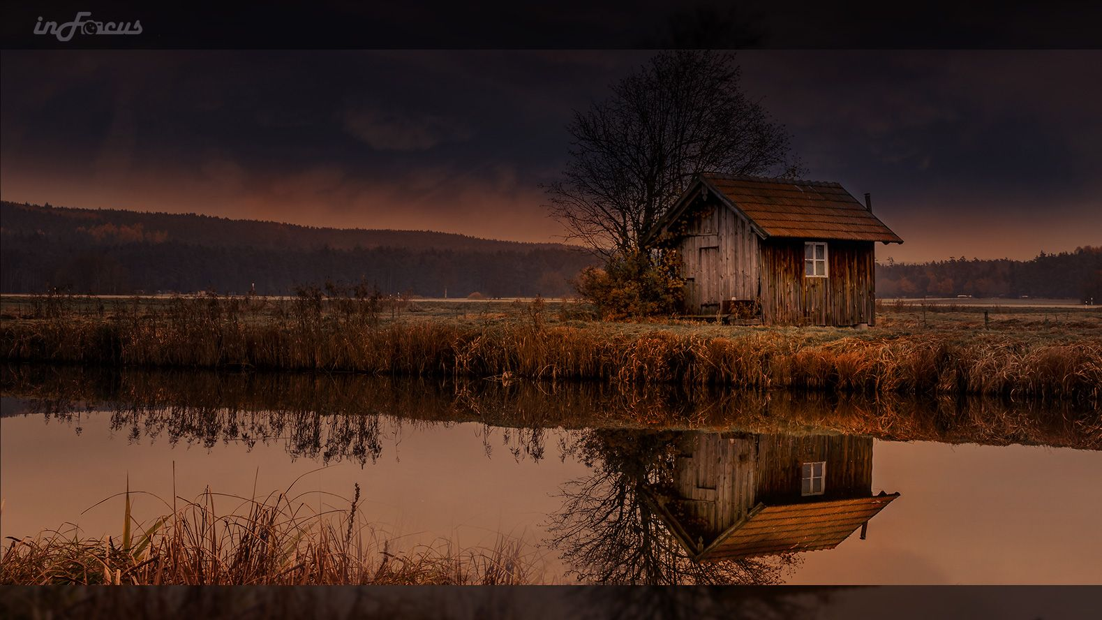 Haus am See Landschaft und Haus