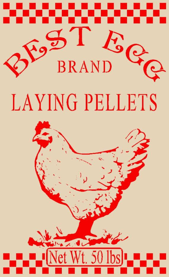 Best Egg Laying Pellets Stencil 12x20 Mylar Stencil Chicken Stencil Feed Sack Stencil