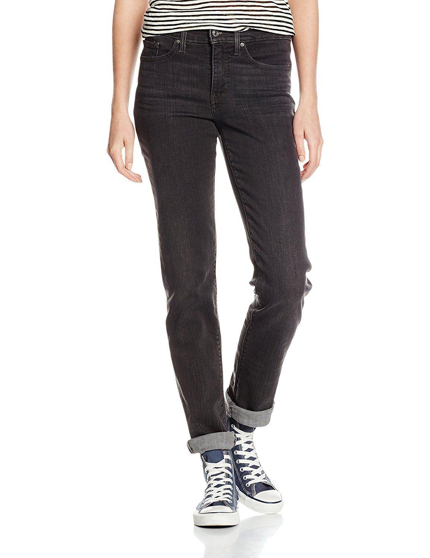 80b17aa65602b Levi's Women's 312 SHAPING SLIM Jeans, Grey (NOISE STACKS), W27/L34 ...