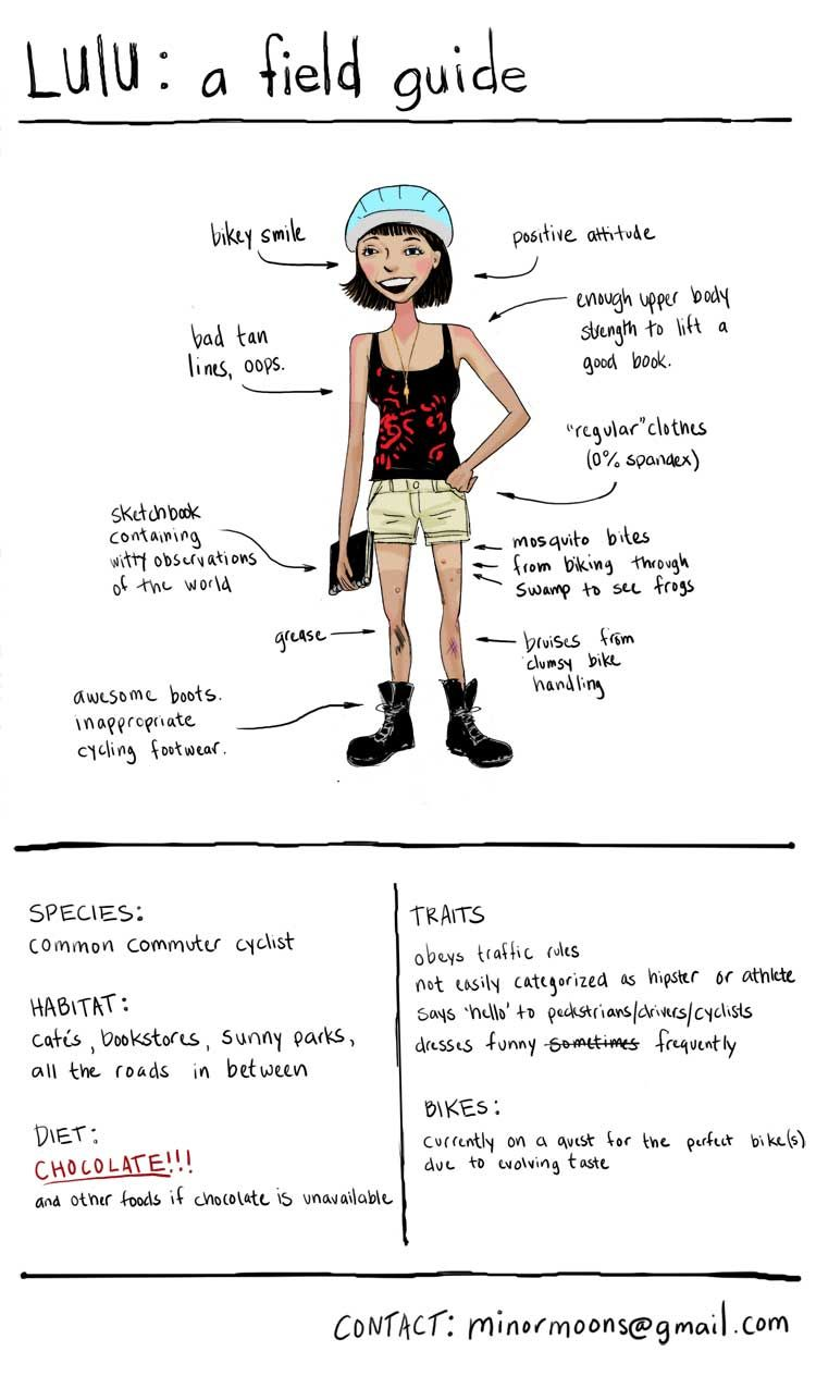 Anatomy of a #commuter #cyclist. :) This is basically me. Especially ...