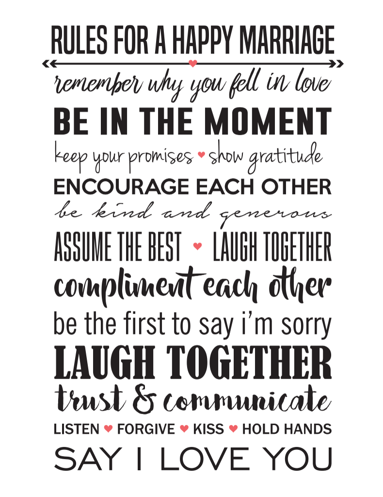 Rules For A Happy Marriage Love Marriage Quotes Happy Marriage Quotes Happy Marriage