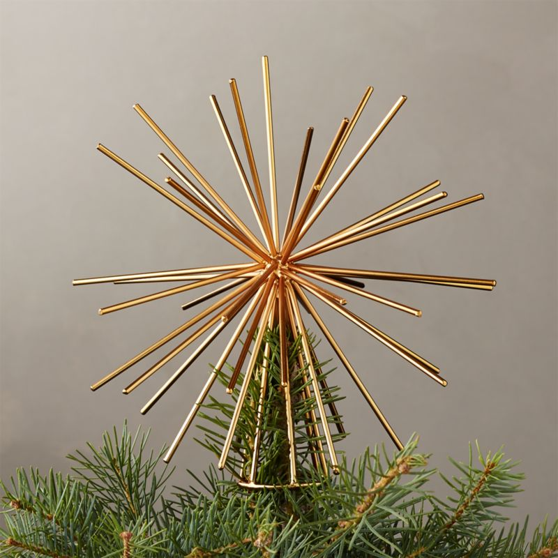Burst Gold Tree Topper
