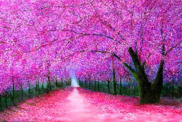 Pin By Luis Fernando On Places Fine Art America Cherry Blossom Impressionism Painting