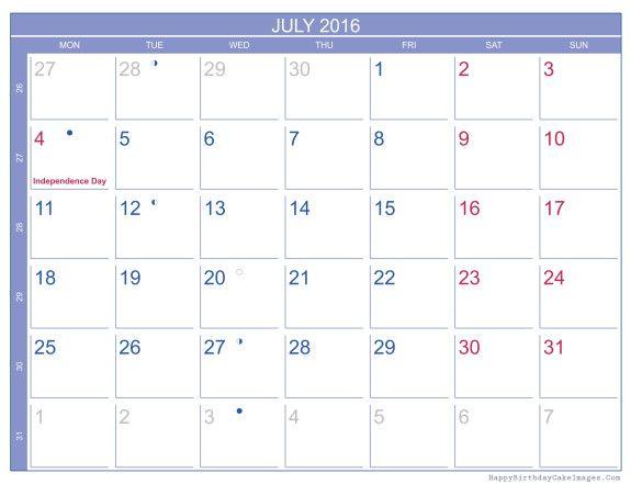 July  Calendar Free  July  Calendar With Holidays