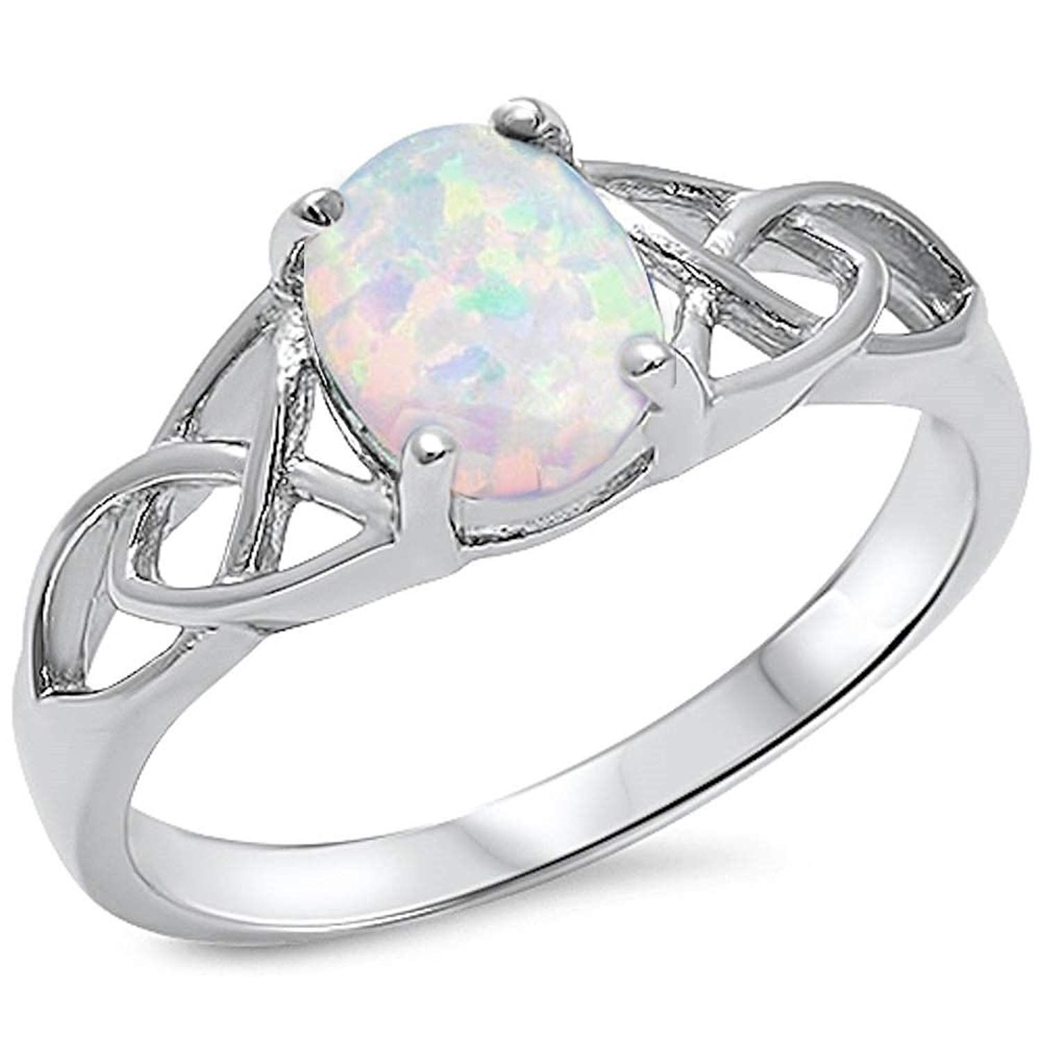 Oval Halo Cz Wedding Set .925 Sterling Silver Ring Sizes 4-11