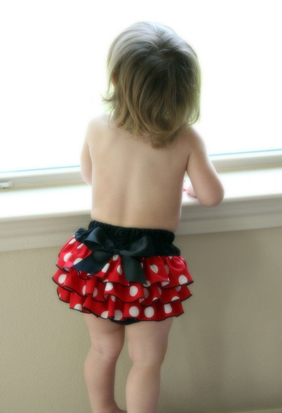 Mouse Baby Bloomer  Diaper Cover