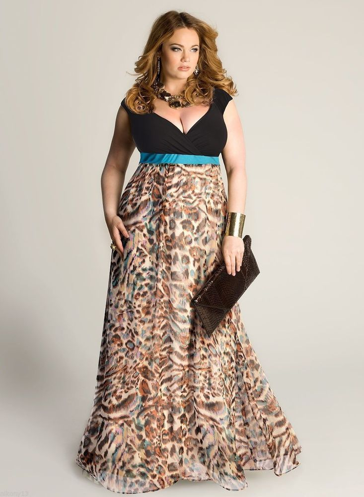 Stunning animal print chiffon skirt maxi dress from Igigi! I want to twirl  in this 813ca8386