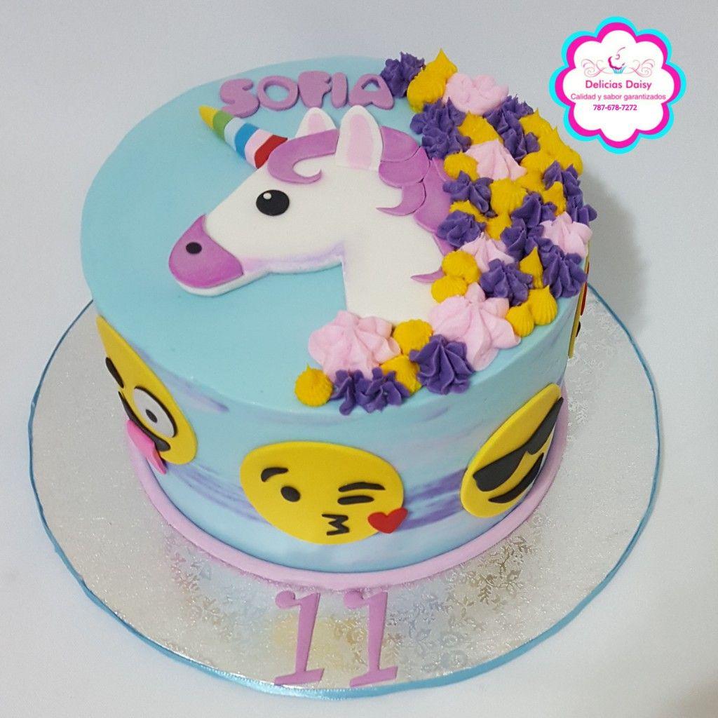 Unicorn Emoji Cake