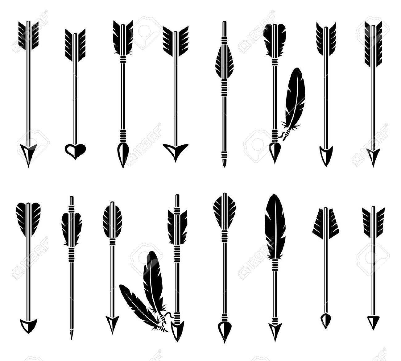1,182 Medieval Bow And Arrow Stock Vector Illustration And ...