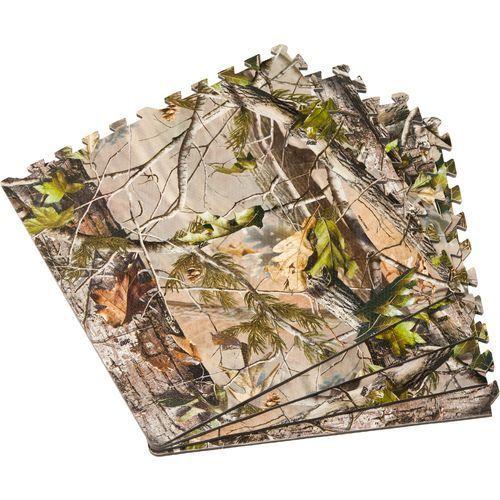 Realtree APG™️ Camo Campsite Flooring Tiles 4-Pack $24.99 #Realtreecamo #camotile