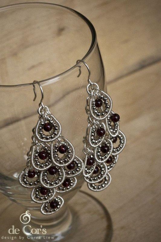 DIY Wire Jewelry Pattern - Grapes Hollowed Out Chandelier Earrings ...