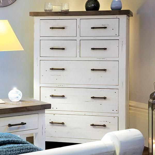 Medium Dorset Reclaimed Wood Chest Of Drawers