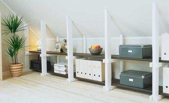 kniestockregal dachboden pinterest haus dachboden und dachschr ge. Black Bedroom Furniture Sets. Home Design Ideas