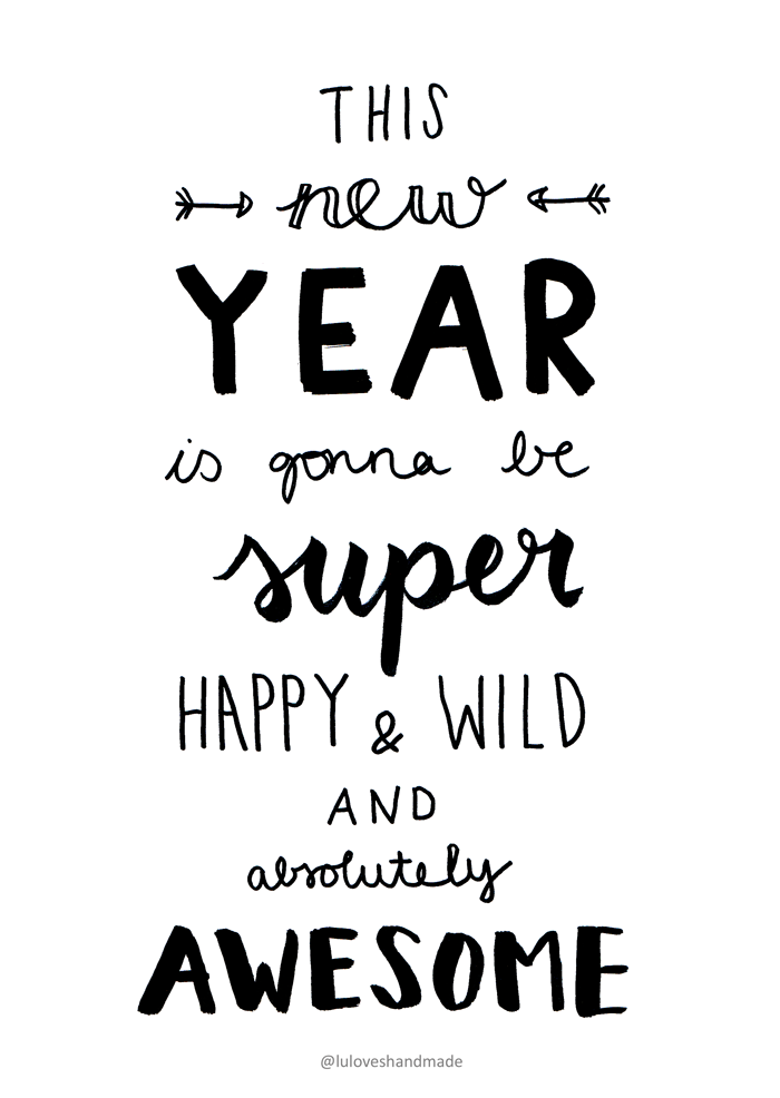 Handlettering Printable: Happy New Year 2016 | Beautiful fonts ...