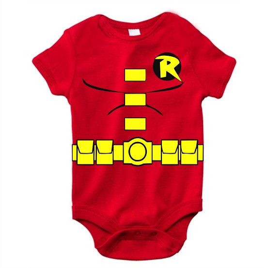 8fe3f2c1fdcc0 Our super cute Robin onesie is the perfect gift for your new little  Superhero. Made from soft material, this onesie is printed with Robins