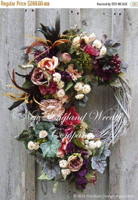 ON+SALE+Victorian+Wreath+Designer+Floral+by+NewEnglandWreath