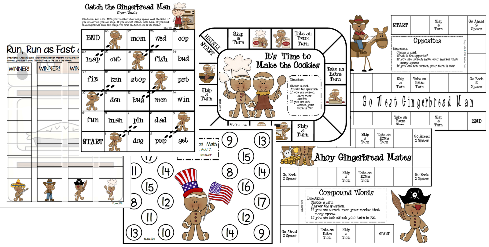 First Grade A La Carte The Gingerbread Man Is Loose