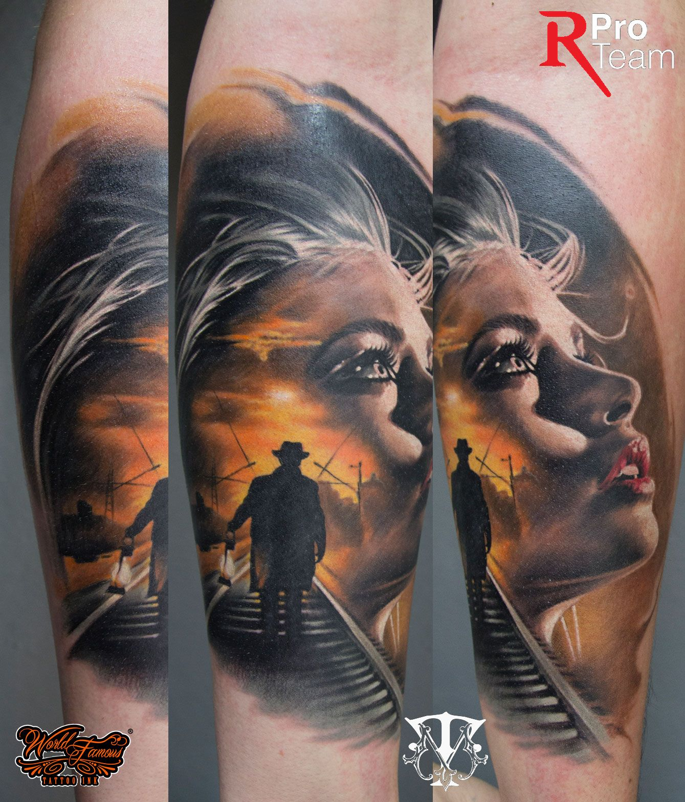 Mirel Tattoo – Color Black and Grey realistische Portraits Horror ... - Tattoo Farbe Schwarz