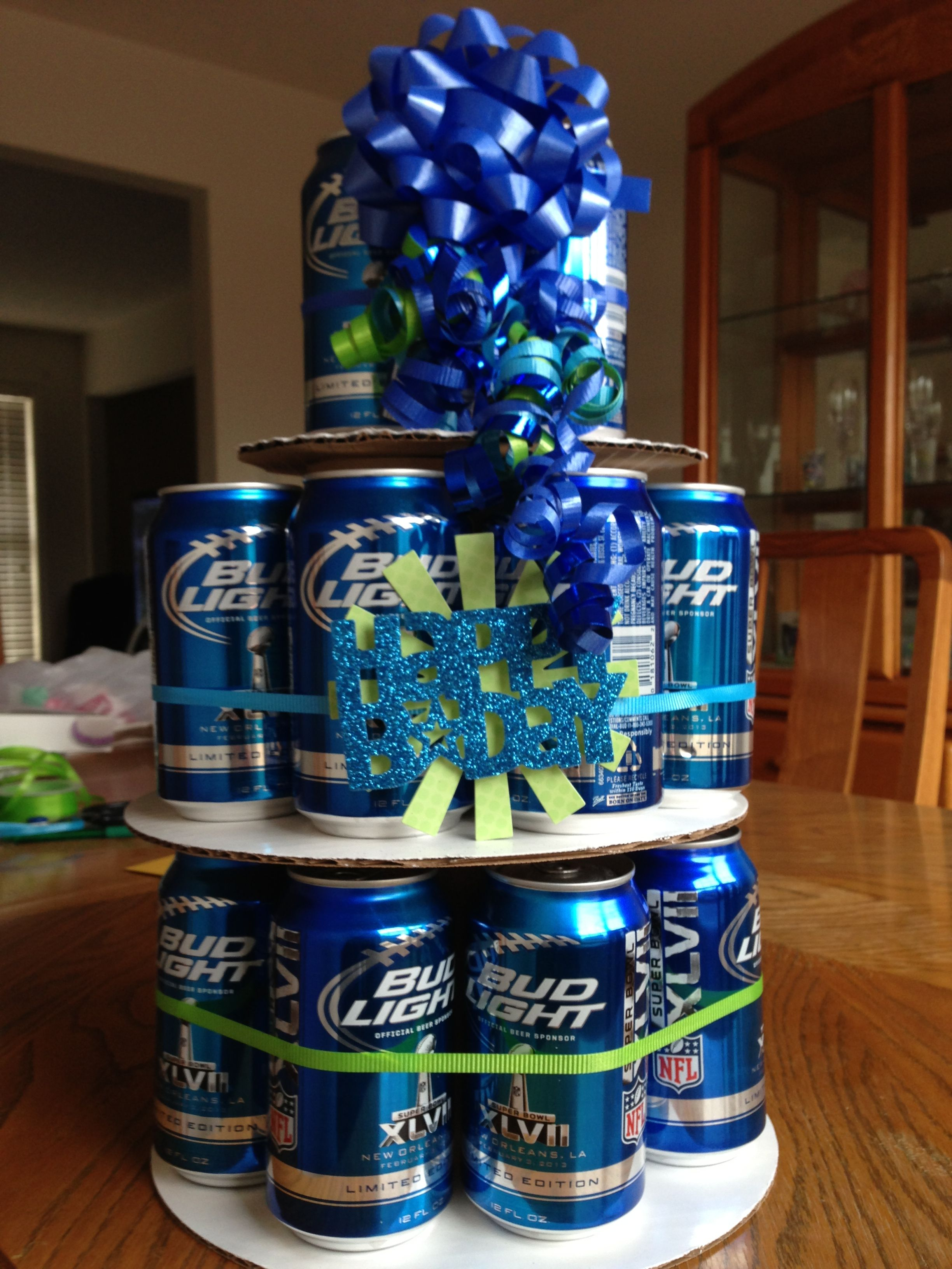 Pin Beer Can Birthday Cake For The Future Cake on Pinterest