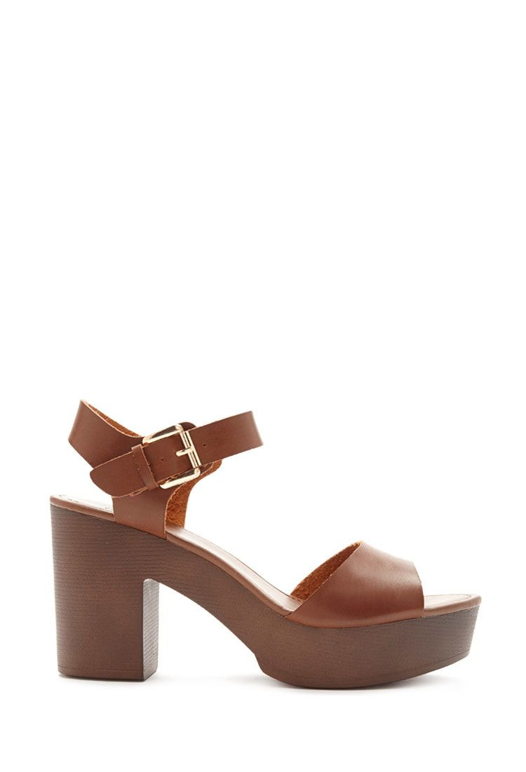 307c3e85afe7b Faux Leather Platform Sandals