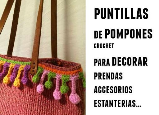 Punto puntillas con pompones tutorial | puntillas | Pinterest ...